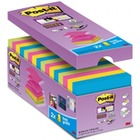 Bloczek samop. POST-IT Super sticky Z-Notes (R330-SS-VP16), 76x76mm, 16x90 kart., mix kolorów, 2 bloczki gratis
