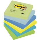 Bloczek samop. POST-IT (654-MTDR), 76x76mm, 6x100 kart., paleta marzycielska