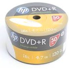 HP DVD+R | 4.7GB | x16 | WHITE FF InkJet Printable White | spindel 50