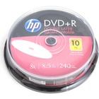 HP DVD+R | 8.5GB | x8 | WHITE FF InkJet Printable | cake 10