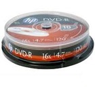 HP DVD-R | 4.7GB | x16 | cake 10