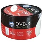 HP DVD-R | 4.7GB | x16 | WHITE FF InkJet Printable White | spindel 50