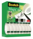 Taśma biurowa SCOTCH® Magic™ (8-1933R24TPR), matowa, 19mm, 33m, 20szt., 4 rolek GRATIS