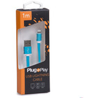 Kabel LIGHTNING USB niebieski Plug&Play PP-LIGHTING-BLUE