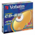 Verbatim CD-RW 12x 700MB 5p jewel slim DataLife+, bez nadruku, kolor